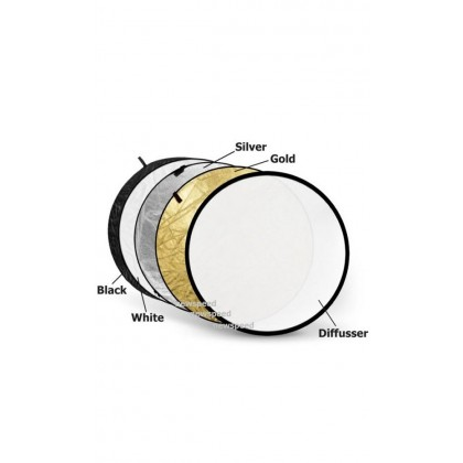 5 in 1 Collapsible Reflector 80cm