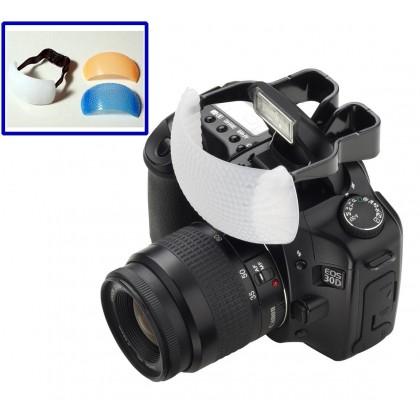 3 Color Pop Up Flash Diffuser for DSLR Camera