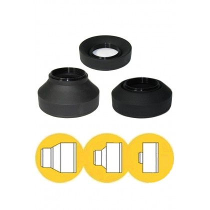3 Stage Silicone Lens Hood 62mm