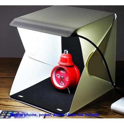 Portable LED Light Tent Photography Studio Light Tent 23cm