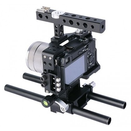 Cage For Sony A6300 A6400 A6500 Video Rig Support YC60