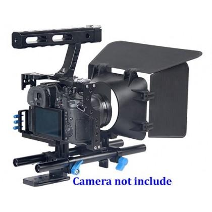 Video Rig / Cage Kit Set For Sony A7 A7S A7R Mark MK III 3 II 2 Panasonic GH4 Video Rig Support YC500