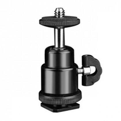 Hotshoe Mount Mini Ball Head with Lock Hot Shoe Adapter