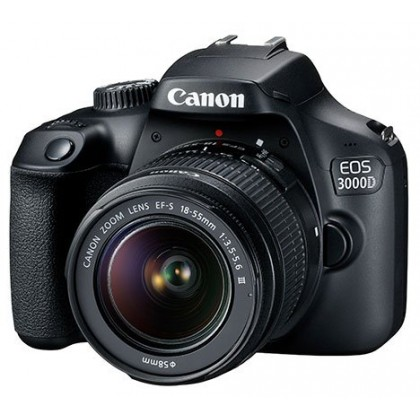 (Canon MSIA) Canon EOS 3000D 18-55mm III Lens DSLR Camera +32GB+Bag
