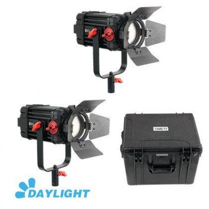 (Mid Year Sale) CAME-TV Boltzen 100w LED Video Light Fresnel Focusable Daylight 2pcs Kit