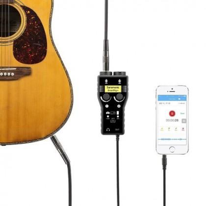Saramonic SmartRig+ 2-Ch XLR/3.5mm Microphone Audio Mixer Adapter