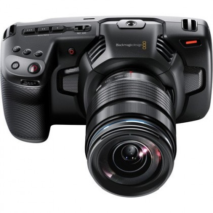 Blackmagic Design Pocket Cinema Camera 4K Body + Olympus 12-40mm F2.8 Lens