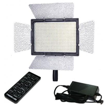 Yongnuo YN600 LED Video Light (5500K) + AC Power Adapter Direct Power