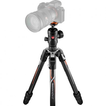 Manfrotto Befree GT Travel Carbon Fiber Tripod with 496 Ball Head for Sony Camera MKBFRTC4GTA-BH
