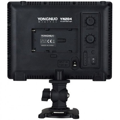 Yongnuo SMD LED Video Light (3200K-5500K) YN204 with Battery + Charger
