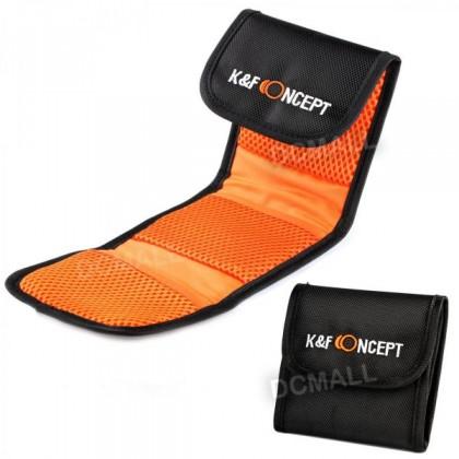 K&F Concept 3 Pocket Lens Filter Bag Pouch Case KF13.001