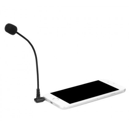 Boya BY-UM4 Gooseneck 3.5mm Mini Flexible Microphone for Smartphone Laptop