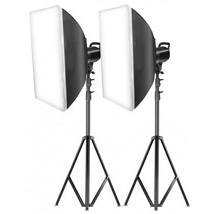 L-Lite LED Video Light with Softbox Kit (60WS-2KIT)