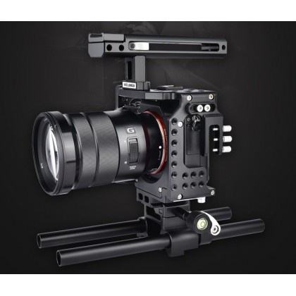 Cage For Sony A7III A7II A7RIII A7SII Video Rig Support YCA70