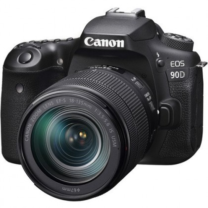 Canon EOS 90D 18-135mm Lens DSLR Camera +32GB+Bag (Import)