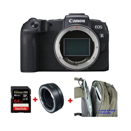 Canon EOS RP Body Free Adapter + 64GB + Backpack (MSIA)