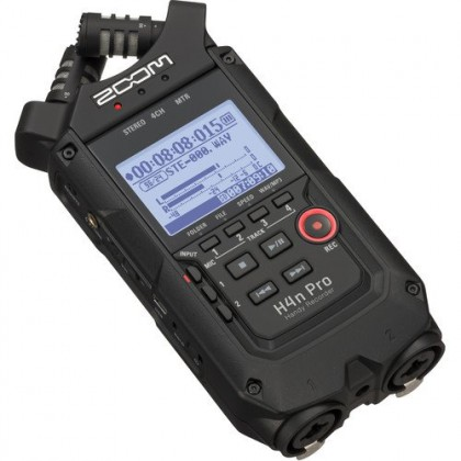 Zoom H4n Pro 4-Input / 4-Track Portable Handy Recorder with Onboard X/Y Mic Capsule