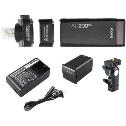 Godox AD200Pro TTL Pocket Flash Light Speedlight (2KIT) with Softbox