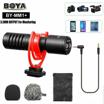 Boya BY-MM1+ with Microphone Output For Mobile Phone / Camera