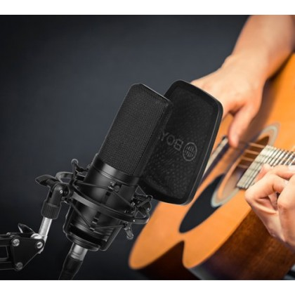 BOYA BY-M1000 Large Diaphragm Multi-Pattern Condenser Studio Microphone