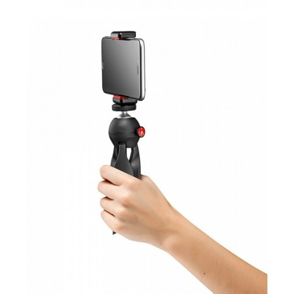 Manfrotto Table Top Mini Tripod with Smartphone Mobile Phone Clamp MKPIXICLAMP-BK